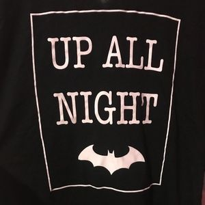 Batman Tops - NWT Batman Logo Up All Night Long Sleeve Shirt